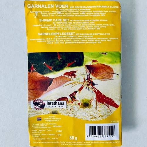 Mix pour Shrimp-Crab-Pleco mix dans une emballage de blister