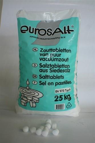 Zout, per 25 kg (tablet)